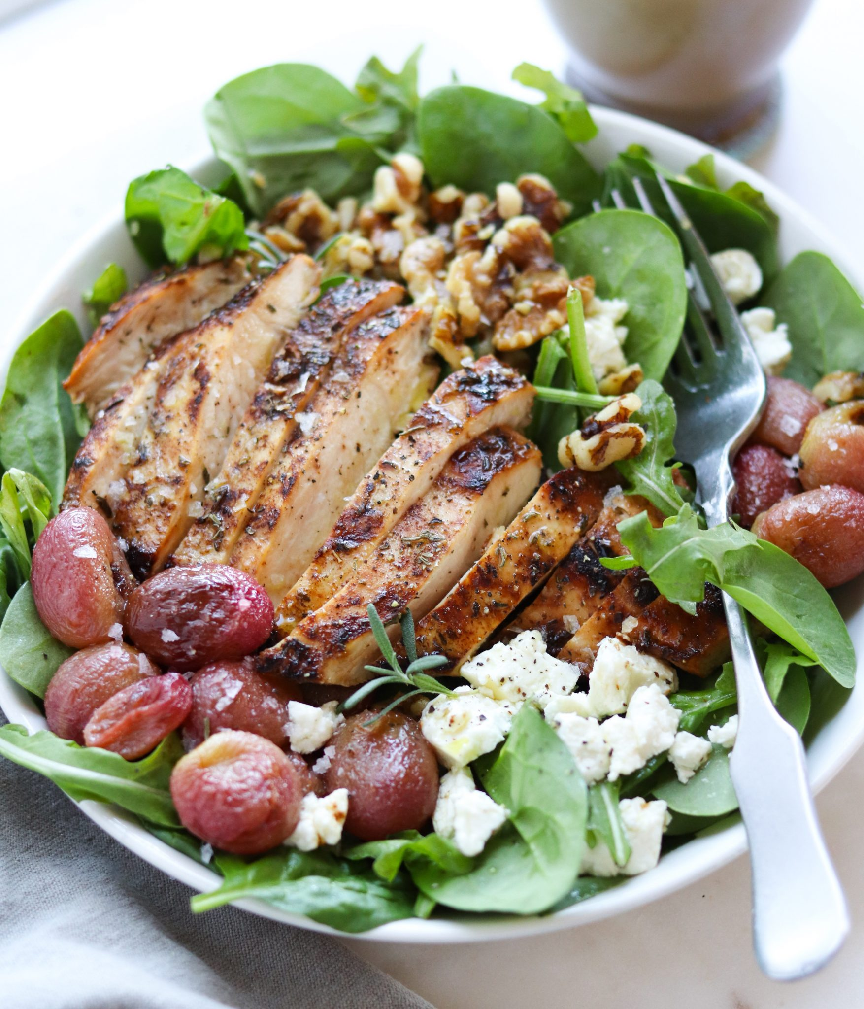 Rosemary Chicken And Roasted Grapes Salad