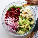 Pomegranate and Avocado Winter Salad with Balsamic Vinaigrette