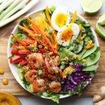 Rainbow Asian Salad Bowls with Shrimp - Whole30