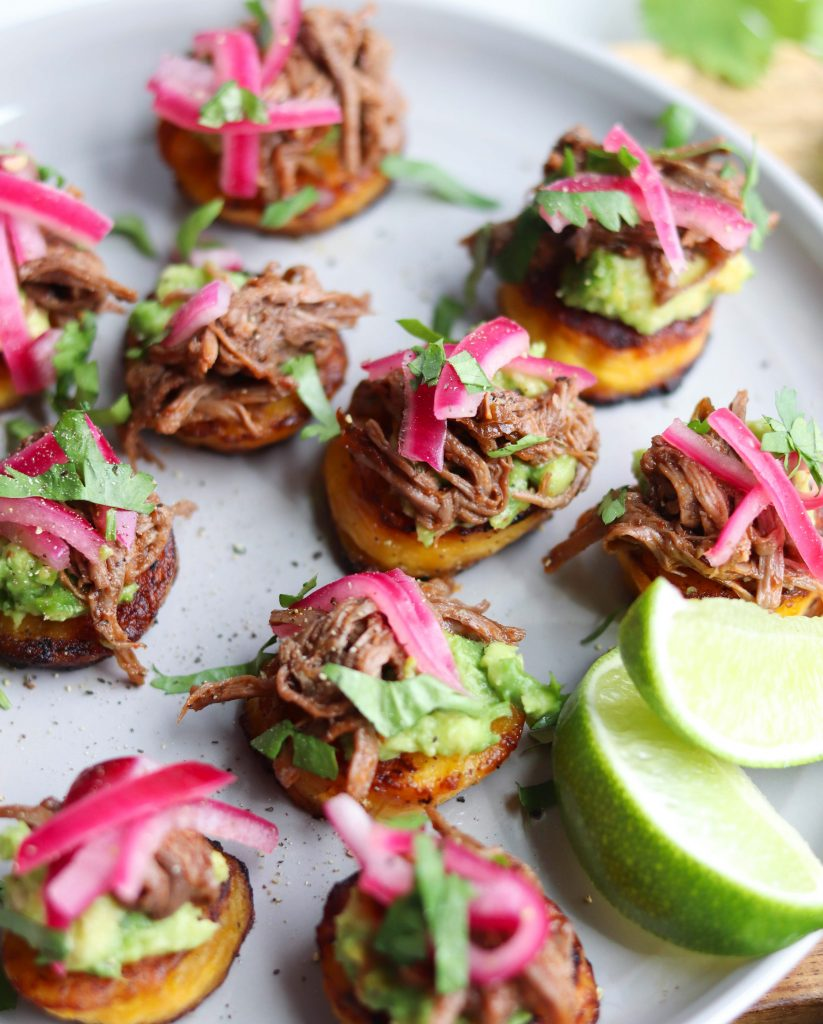 Whole30 Barbacoa Beef and Plantain Sliders