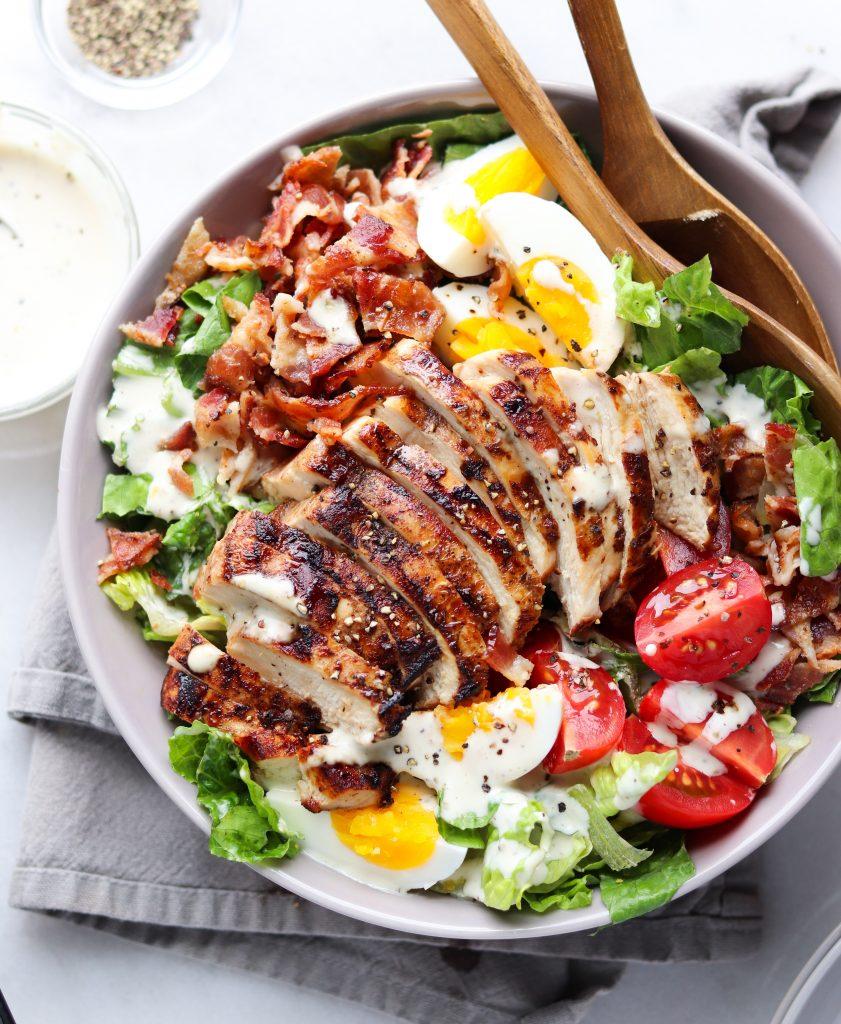 Whole30 Chicken & Bacon Caesar salad
