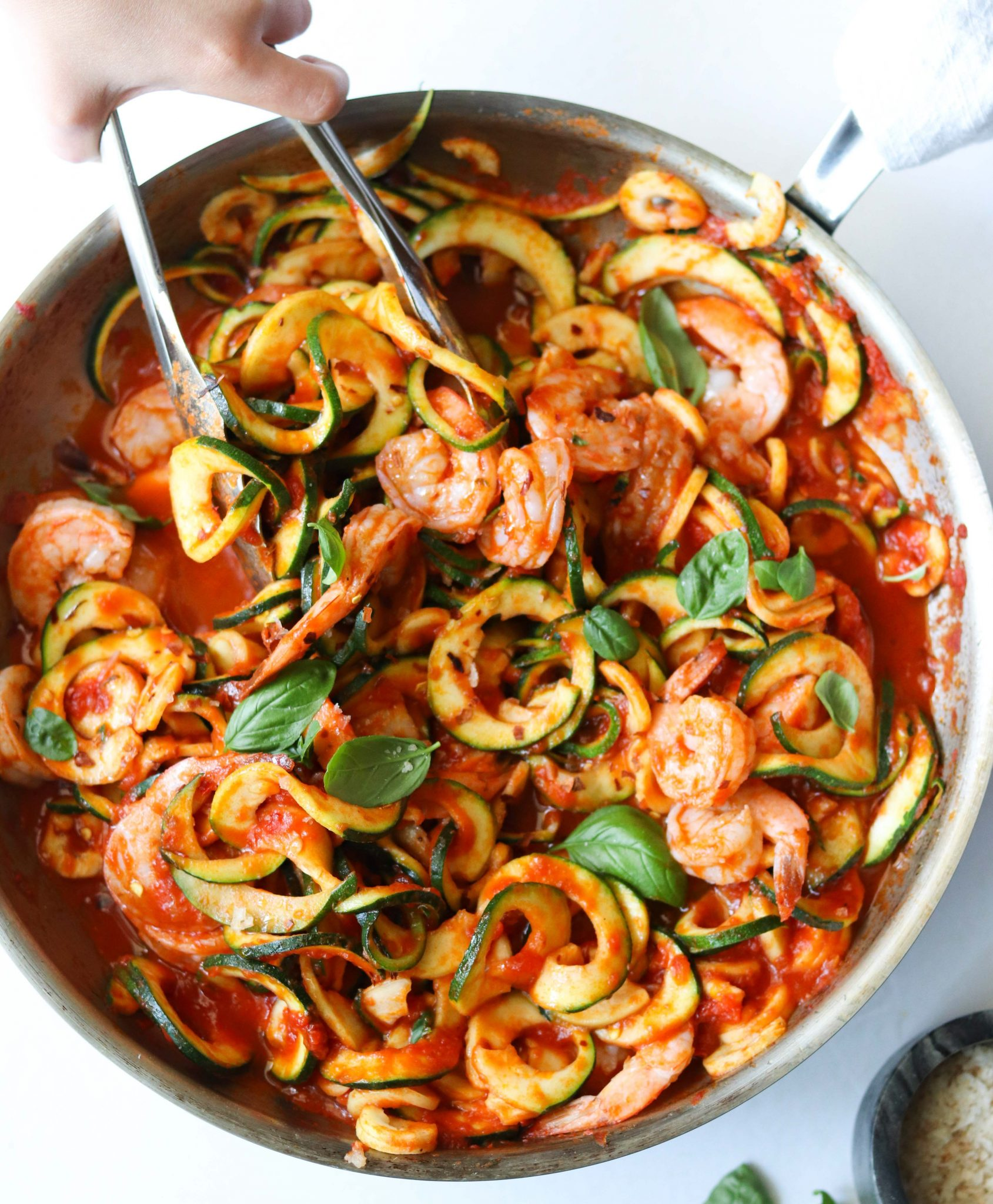 Whole30 Shrimp Fra Diavolo, Finished Dish