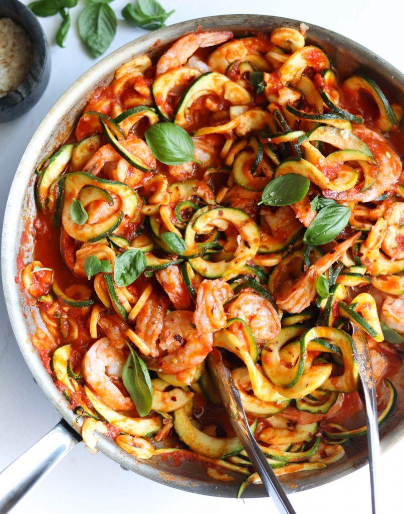 Whole30 Shrimp Fra Diavolo - Finished Dish